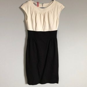Black and off white fitted dress Maggy London